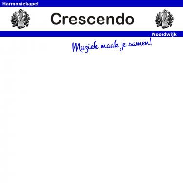 Logo Harmoniekapel Crescendo Noordwijk